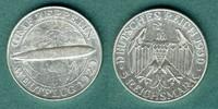 5 Reichsmark 1930 A Weimarer Republik Zeppelin vz  147,00 EUR