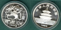 China 10 Yuan 1989 stgl. Panda   1 oz. Ag    54,90 EUR incl. VAT., +  5,90 EUR shipping