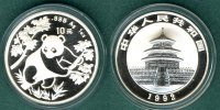 China 10 Yuan 1992 stgl. Panda   1 oz. Ag   94,90 EUR incl. VAT., +  5,90 EUR shipping