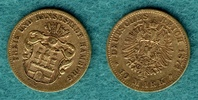10 Mark 1874 B Hamburg Stadtwappen, Schild unten spitz / Mit Expertise ... 2150,00 EUR  +  9,90 EUR shipping