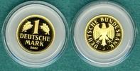 1 Deutsche Mark 2001 J Bundesrepublik Goldmark zum Abschied der DM stgl.  515,00 EUR  +  9,90 EUR shipping