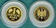 1 Deutsche Mark 2001 F Bundesrepublik Goldmark zum Abschied der DM stgl.  515,00 EUR  +  9,90 EUR shipping