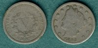 5 Cents 1883 USA Liberty Nickel sge/s  13,50 EUR  +  5,90 EUR shipping