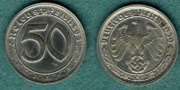 Drittes Reich 50 Reichspfennig 1939 G ss/v...