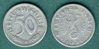 50 Reichspfennig 1939 G Drittes Reich J.372 ss  15,00 EUR