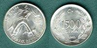 1500 Lira  1981 Türkei FAO / Ziege mit Kalb vz/stgl.  18,50 EUR