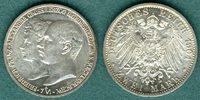 2 Mark 1904 A Mecklenburg-Schwerin Friedrich Franz IV. und Alexandra vz  69,00 EUR  +  6,90 EUR shipping