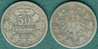 50 Pfennig 1877 H Kaiserreich J.8 s/ss  39,00 EUR