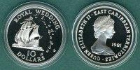 10 Dollars  1981 Ostkaribische Staaten Hochzeit von Prinz Charles und L... 34,90 EUR