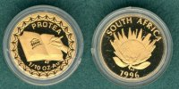 1/10 Ounce 1996 Südafrika 1/10 oz. Neue Verfassung / mit COA & Box PP  185,00 EUR