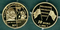 10 Euro 2006 Frankreich Benjamin Franklin / mit COA PP  375,00 EUR