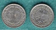 50 Reichspfennig 1930 F Weimarer Republik J.324 vz  89,00 EUR  +  6,90 EUR shipping