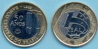 1 Real 2015 BRASILIEN, BRAZIL 1 Real 2015, 50 Jahre Centralbank 1965-20... 3,00 EUR