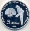 5 Dollar 2014 NORFOLK ISLAND 5 Dollar 2014, Vogel Papagei, Elisbeth II.... 0,00 EUR