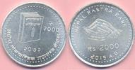 2000 Rs. 2015 NEPAL 2000 Rs. 2015, Republik, Verfassung, Jubiläum Silbe... 65,00 EUR  +  8,00 EUR shipping