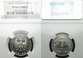 1 Mark 1933 A Drittes Reich  NGC PF 66