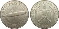 5 Mark Zeppelin 1930 A Weimarer Republik  besser als vorzüglich  185,00 EUR  plus 4,00 EUR verzending