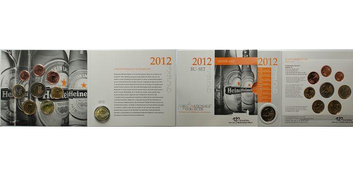 5,88 € 2012 Niederlande Kursmünzensatz/Ausgabe mit 2 € Sonderm.10 J.Euro Bargeld m.Pappschuber f.2012-16 stglimBlister