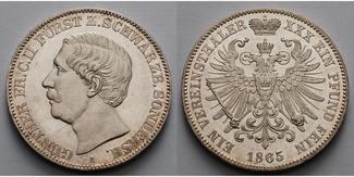 Schwarzburg Sondershausen Vereinstaler 186...