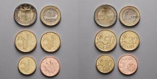 5 Cent -2 Euro, 3,85 2014  Andorra Neujahr...