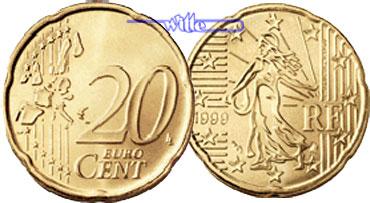 20 Cent 2004 Frankreich Kursmünze, 20 Cent CH UNC