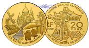 Frankreich 20 Euro, 15,64g  fein 31 mm Ø Montmartre (Bedeutende Bauwerke), 2. Ausgabe inkl. Etui & Zertifikat & Schuber
