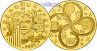 Frankreich 20 Euro, 15,64g  fein 31 mm Ø Europa 2003 - 1/2 oz. inkl. Etui & Zertifikat & Schuber