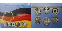 Deutschland 10 Euro x6 Silbergedenkmnzen-Set 2003 mit Fuball, 3. Ausg. 2003 -Archivbild-