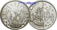 10 Euro 2005 Belgien Europa, Freiheit und Frieden / Europaprogramm PP  65,00 EUR  +  17,00 EUR shipping