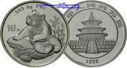 China 10 Yuan 1998 stgl Panda Bären, 1 oz,...