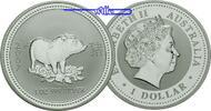 1 $ 2007 Australien Jahr des Schweines / Chines.Tierkreiszeichen stgl  198.85 US$ 179,00 EUR  +  38.88 US$ shipping