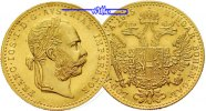 sterreich 1 Dukat<br>3,44g<br>fein<br>20 mm  Franz-Joseph I (amtl. Neuprgung) GOLD --Archivbild--