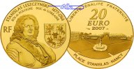 Frankreich 20 Euro, 15,64g fein 31 mm  Stanislas Leszczynski - 1677-1766 - Herzog von Lothringen und Knig von Polen