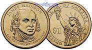 USA 1 $ 2007 D vz James Madison 2007 Denver / Kupfer-Nickel / Neue Serie 182 руб