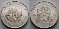 5000 Kwacha1 ozØ 39 mm 2000 Sambia/Zambia Elefant - African Wildlife  2... 175,00 EUR