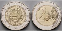 2 Euro 2012 F Deutschland 10 Jahre Euro Bargeld,Prägestätte F stgl  3.44 US$ 3,10 EUR  +  12.21 US$ shipping