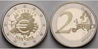 Slowenien 2 Euro 2012  PP, in Kapsel 10 Jahre Euro Bargeld in originaler... 755 руб