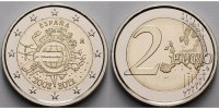 2 Euro 2012 Spanien 10 Jahre Euro Bargeld stgl  4,50 EUR  +  7,00 EUR shipping