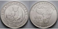 Somalia 10 $1 oz 40 mm The African Monkey, 6.Ausgabe, 999er Silber, letzte Ausgabe