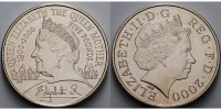 Grobritannien 5 Pounds Queen Mother,Kupfer Nickel