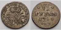 6 Pfennig 1764 Paderborn, Bistum Wilhelm Anton von der Asseburg 1763-17... 165,00 EUR  +  17,00 EUR shipping