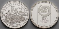 Deutschland Medaille 100 Jahre Schalke 04 1904 - 2004 inkl. Kapsel & Zertifikat & Kassette