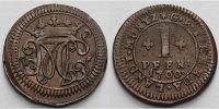1 Pfennig 1760 Bentheim-Tecklenburg-Rheda Moritz Casimir 1710-1768  Sch... 88,00 EUR  +  17,00 EUR shipping