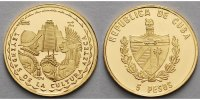 Kuba 5 Pesos1,24g fein14 mm  Die Legende der Azteken - mit MDM Zertifikat