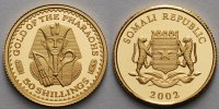Somalia 50 Shillings,1,24g fein13,92mm  Das Gold der Pharaonen, inkl. Kapsel und MDM-Zertifikat