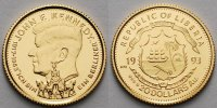 Liberia 20 Dollar<br>1,24g fein<br>14 mm  John F. Kennedy, inkl. Kapsel und MDM-Zertifikat