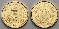 Liberia 20 Dollar<br>1,24g fein<br>14 mm  Michael Schumacher, inkl. Kapsel und MDM-Zertifikat