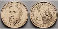 1 $ 2012 D USA Benjamin Harrison / Kupfer-Nickel, Denver vz  3,50 EUR  +  7,00 EUR shipping