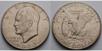 USA / United States 1 $ Eisenhower Dollar 1971 -1974, 1972  (Philadelphia), Archivbild