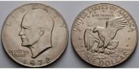 USA / United States 1 $ Eisenhower Dollar 1971 -1974, 1972 (Philadelphia)